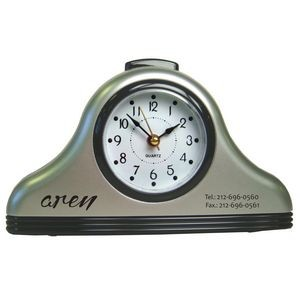 Bell Shaped Desk Alarm Clock with Snooze and Light