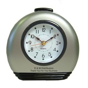 Round Desk Alarm Clock with Snooze and Light