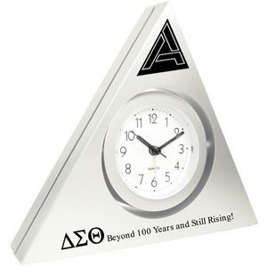 Triangle Alarm Clock with Swivel Head (Silver)